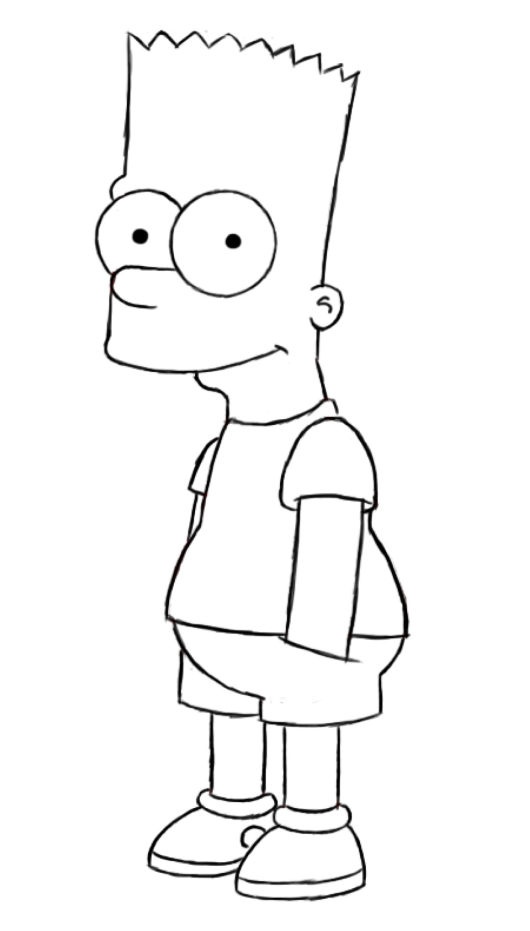 bart simpson drawings sketch coloring page