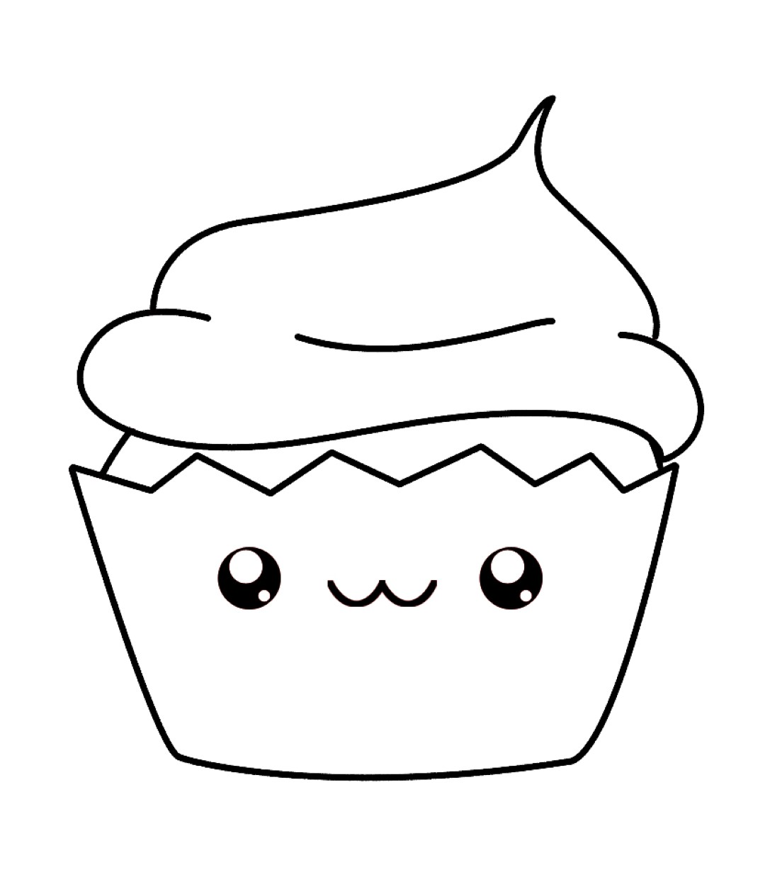 Cute Kawaii Food Coloring Pages Coloring Pages