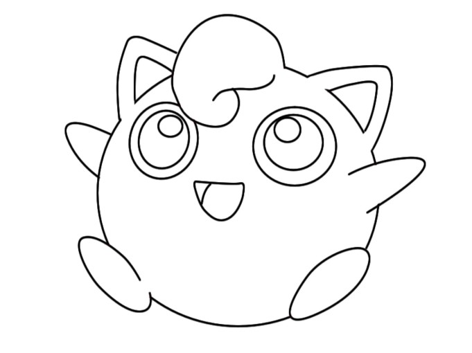 Jigglypuff Coloring Pages Sketch Page