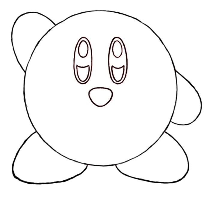 ice kirby coloring pages - photo#30