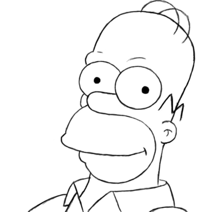 Homer Coloring Pages Coloring Pages Homer Coloring Pages