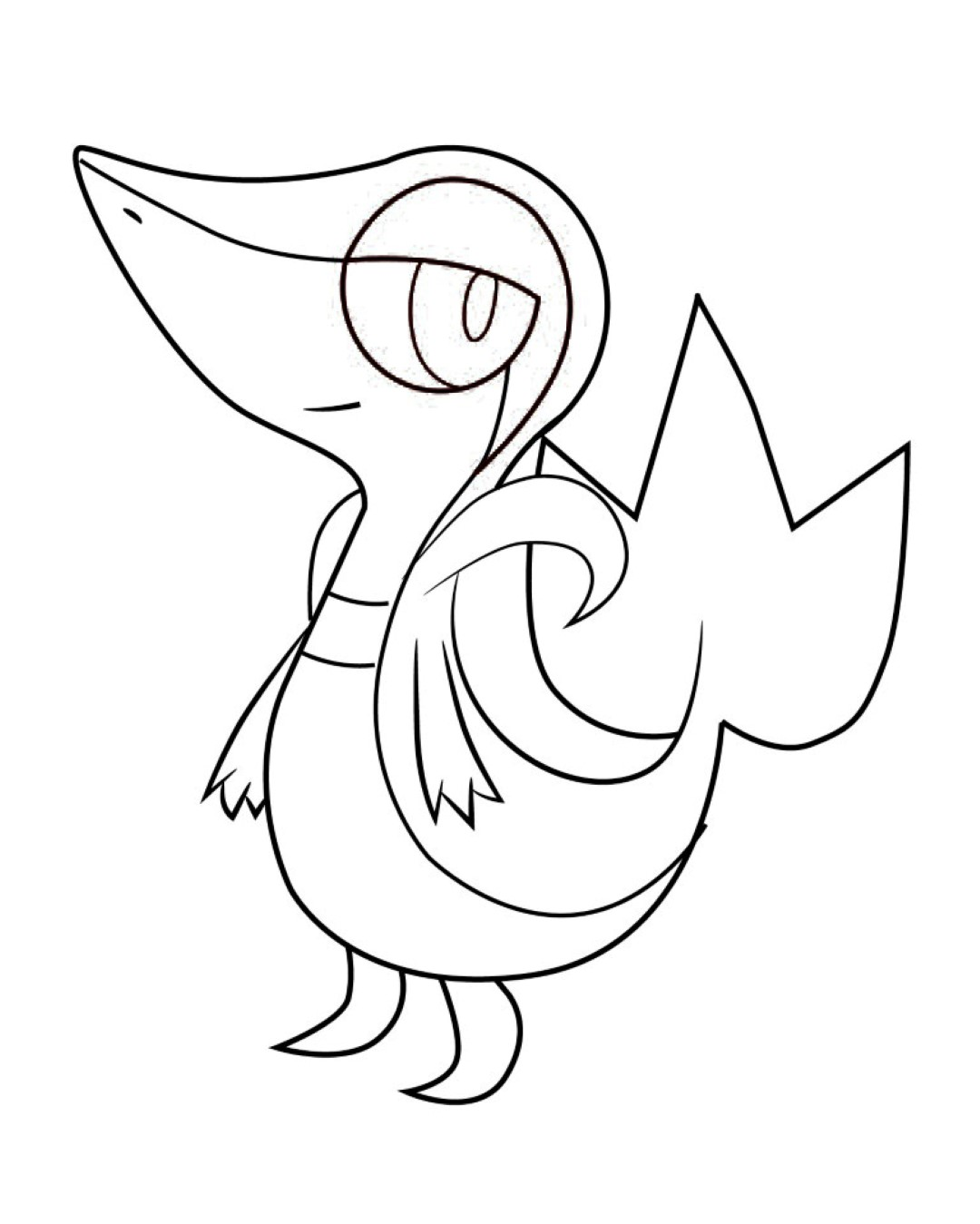 coloring pages pokemon snivy plays - photo#7